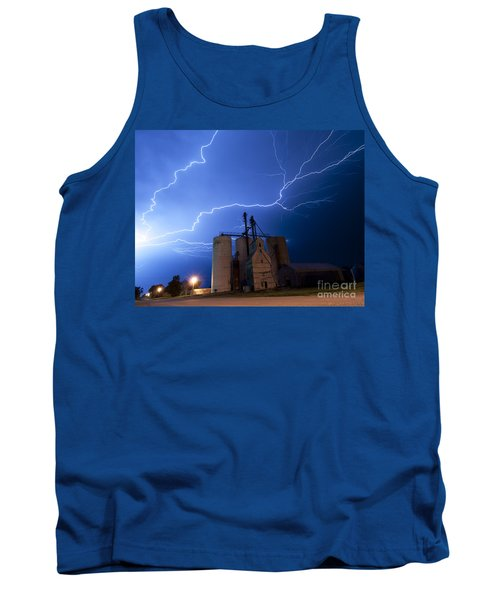 Rural Lightning Storm Tank Top