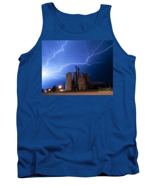 Rural Lightning Storm Tank Top