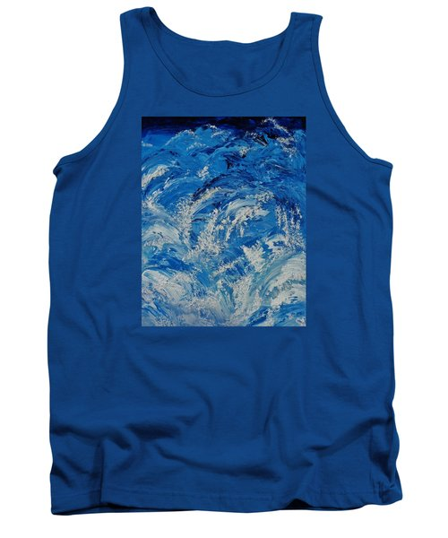 Tank Top featuring the painting Rush by Katherine Young-Beck