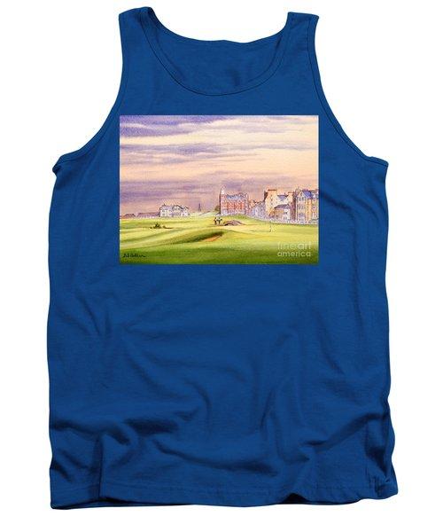 Saint Andrews Golf Course Scotland - 17th Green Tank Top by Bill Holkham