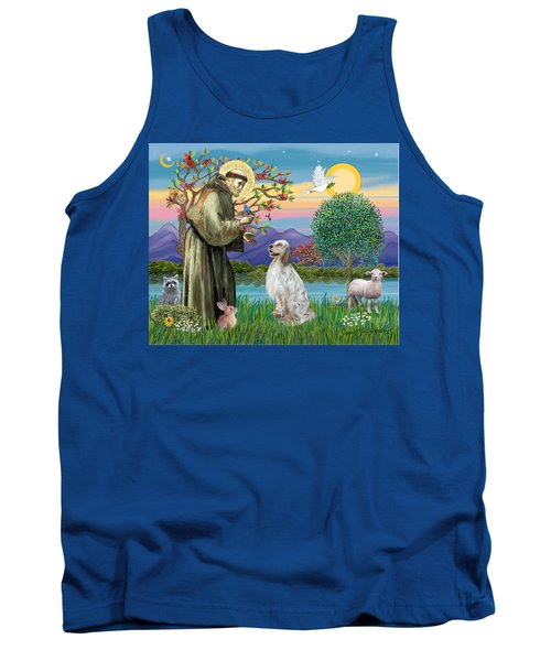 Saint Francis Blesses An English Setter Tank Top