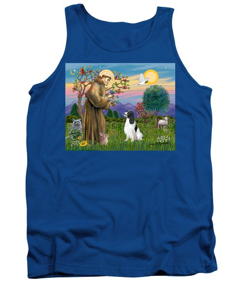 Saint Francis Blesses An English Springer Spaniel Tank Top