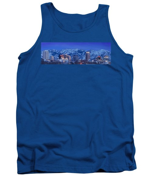 Salt Lake City Skyline Tank Top by Brian Jannsen