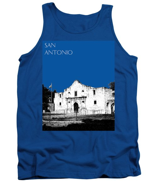 San Antonio The Alamo - Royal Blue Tank Top