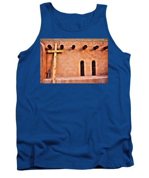 Tank Top featuring the photograph Santuario Four Crosses by Lanita Williams