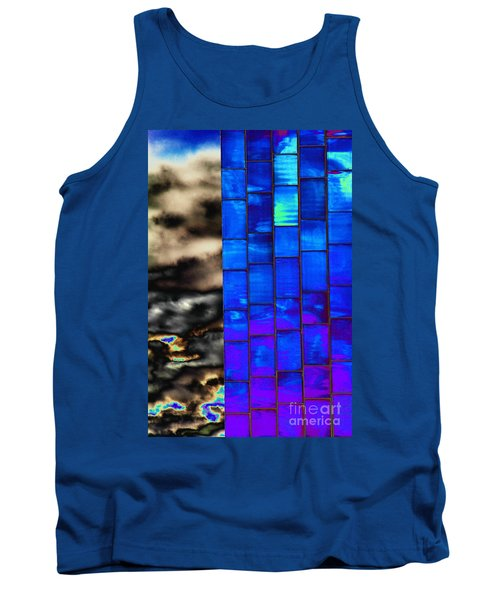 Tank Top featuring the photograph Sapphire Sunset by Christiane Hellner-OBrien