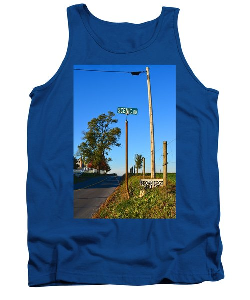 Scenic Road With Brown Eggs 3rd Lane Tank Top