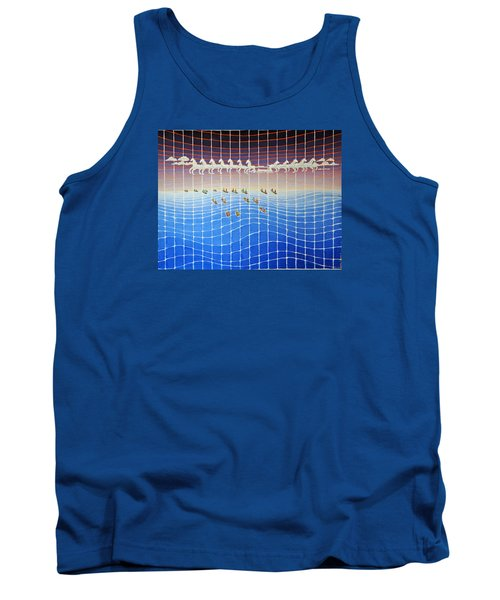 Schooner Race Horse Clouds Tank Top