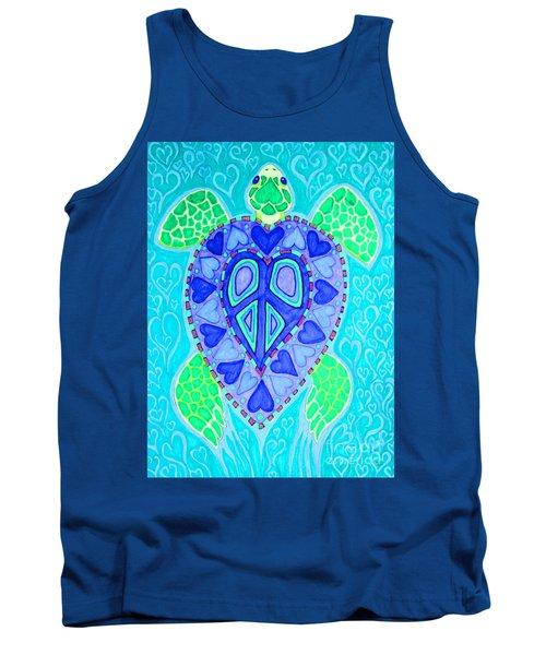 Sea Turtle Swim Tank Top by Nick Gustafson
