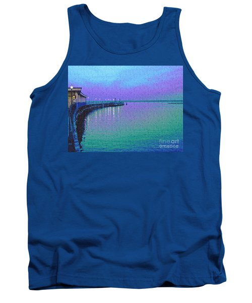 Painterly Seascape Purple Flurry Tank Top