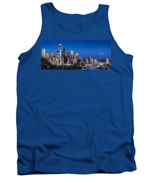 Seattle Skyline Panoramic Tank Top