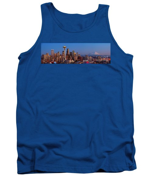Seattle Winter Evening Panorama Tank Top