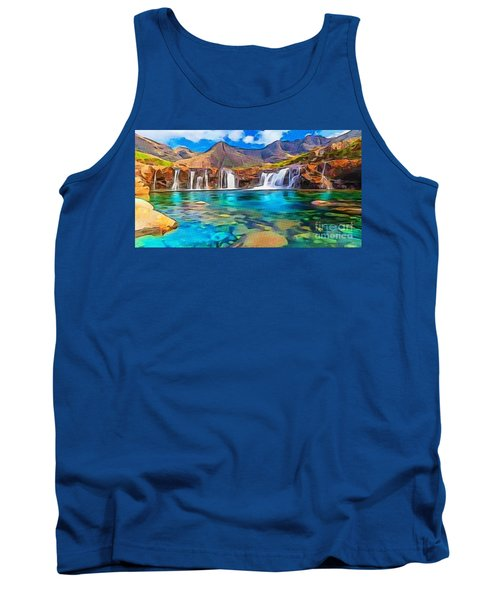 Serene Green Waters Tank Top