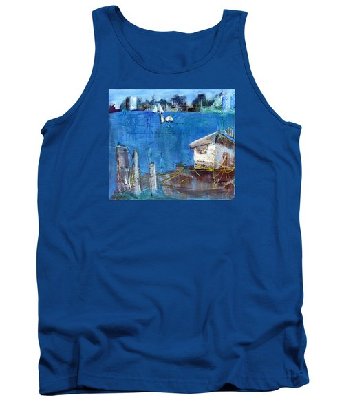 Shack On The Bay Tank Top by Betty Pieper