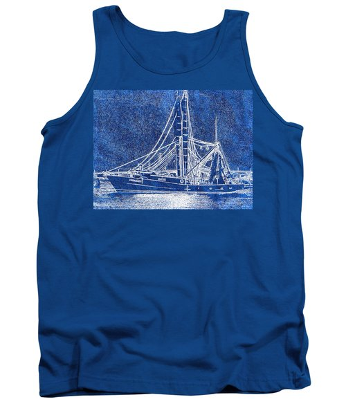 Shrimp Boat - Dock - Coastal Dreaming Tank Top