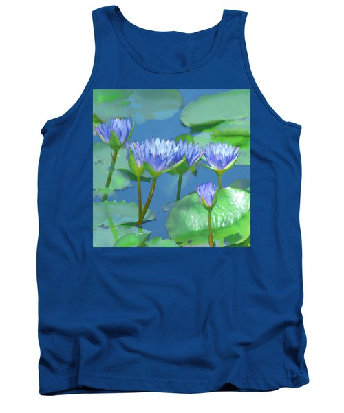 Silken Lilies Tank Top by Holly Kempe