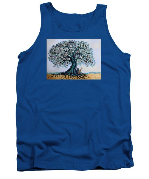 Singing Under The Blues Tree Tank Top by Nick Gustafson