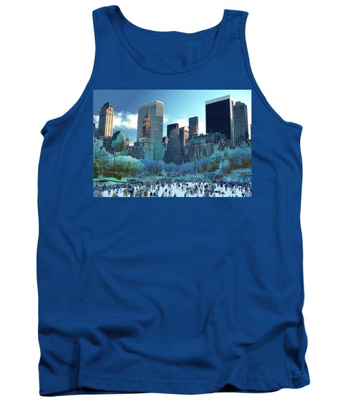 Tank Top featuring the photograph Skating Fantasy Wollman Rink New York City by Tom Wurl