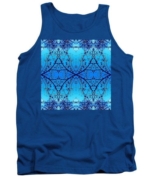 Sky Diamonds Abstract Photo Tank Top