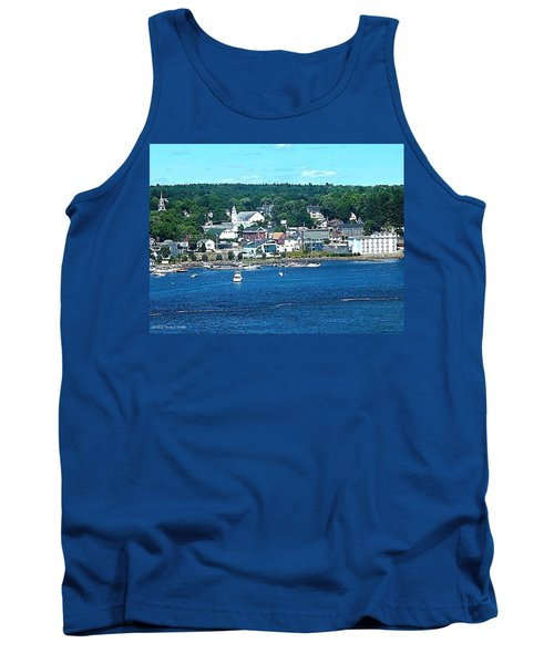 Small Coastal Town America Tank Top by Tara Potts