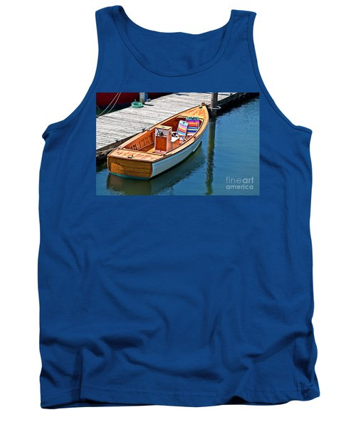 Tank Top featuring the photograph Small Dinghy Boat Art Prints by Valerie Garner