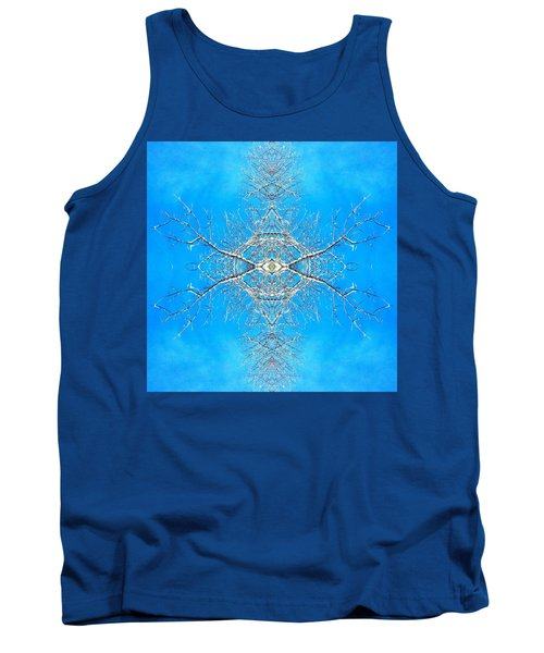 Tank Top featuring the photograph Snowy Branches In The Sky Abstract Art Photo by Marianne Dow