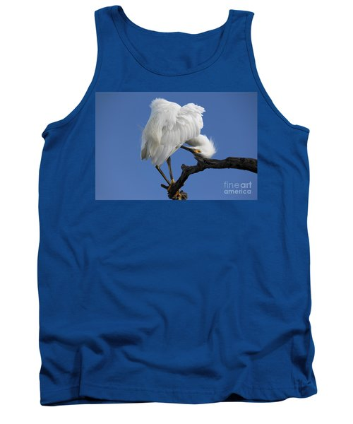 Tank Top featuring the photograph Snowy Egret Photograph by Meg Rousher