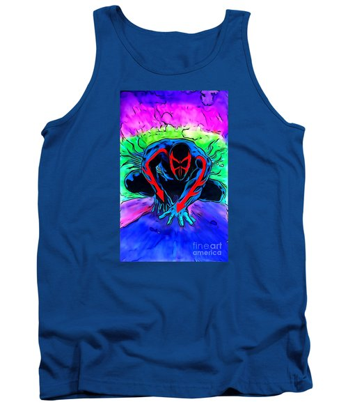 Tank Top featuring the drawing Spider-man 2099 Illustration Edition by Justin Moore