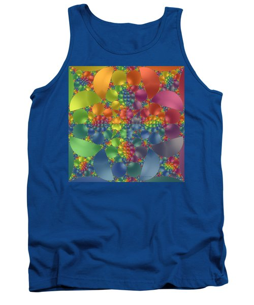 Tank Top featuring the digital art Spring Promises Fractal by Judi Suni Hall