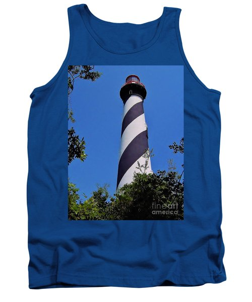 St Augustine Lighthouse Tank Top by D Hackett