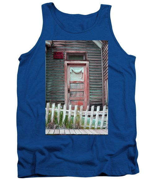 Tank Top featuring the photograph St. Elmo Door Salmon by Lanita Williams