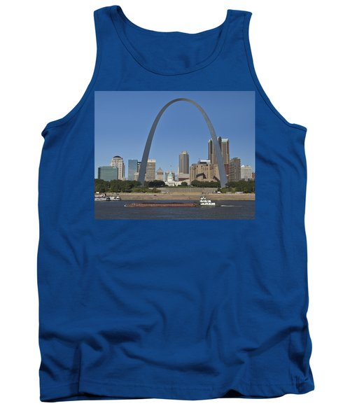 St Louis Skyline Tank Top by Garry McMichael