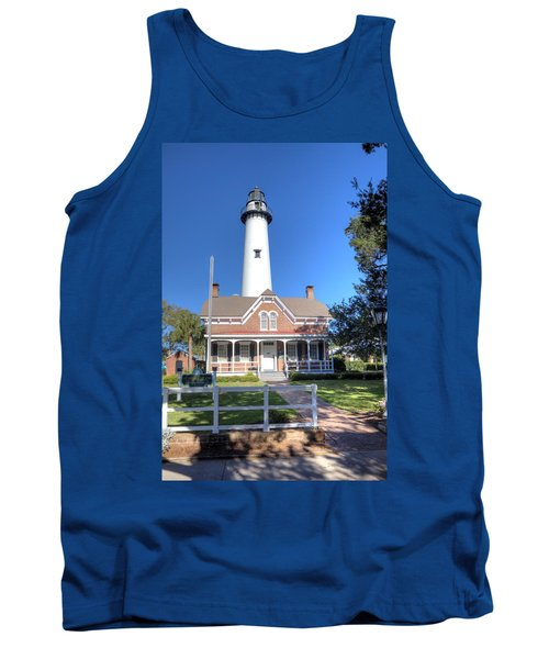 Tank Top featuring the photograph St. Simons Island Light Station by Gordon Elwell