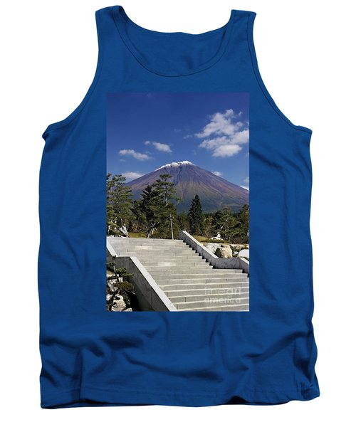 Tank Top featuring the photograph Stairway To Mt Fuji by Ellen Cotton