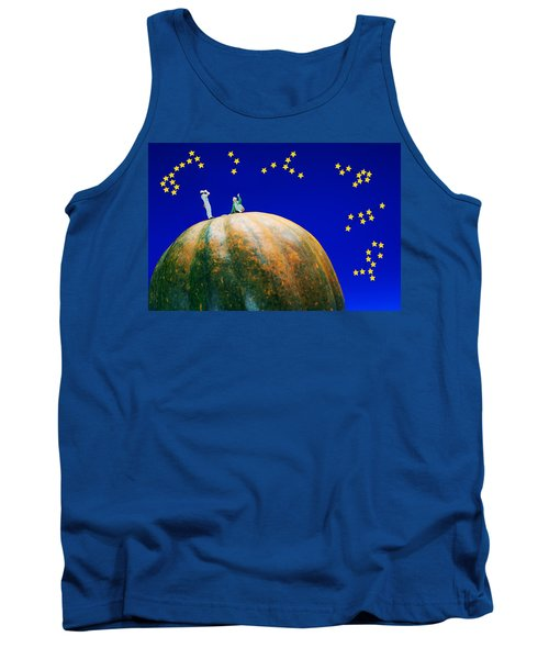 Tank Top featuring the photograph Star Watching On Pumpkin Food Physics by Paul Ge
