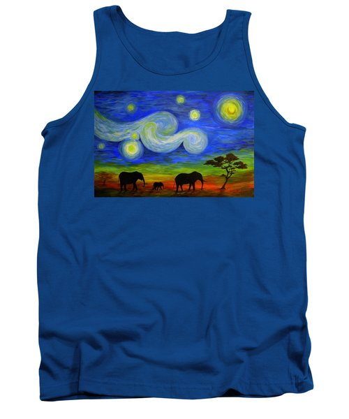 Starry Night Over Africa Tank Top