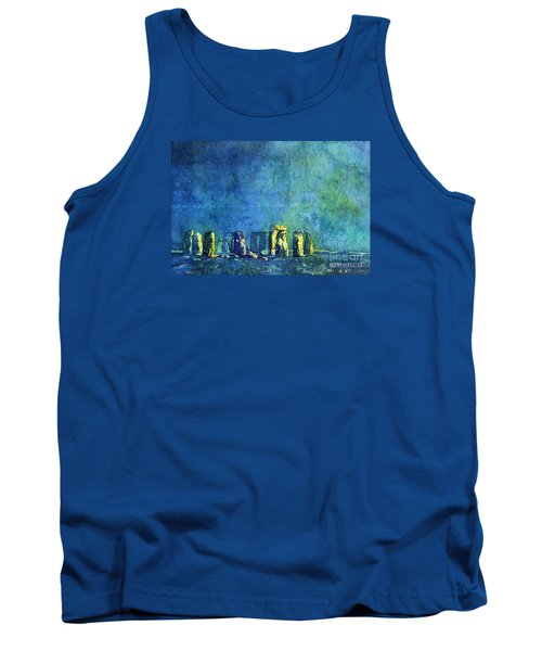 Stonehenge In Moonlight Tank Top