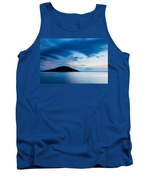 Storm Moving In Over Veli Osir Island At Sunrise Tank Top