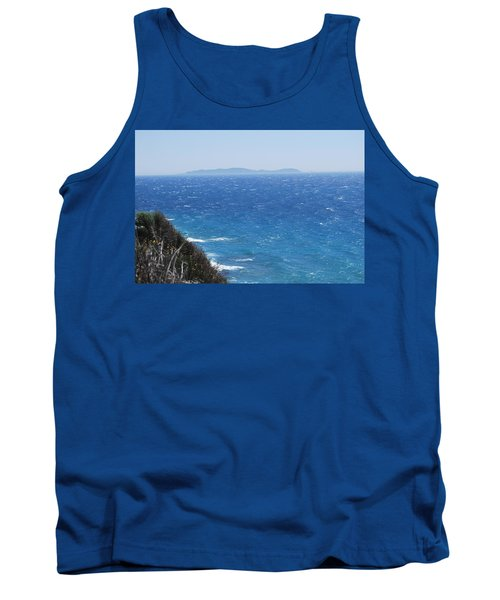 Tank Top featuring the photograph Strong Mistral by George Katechis