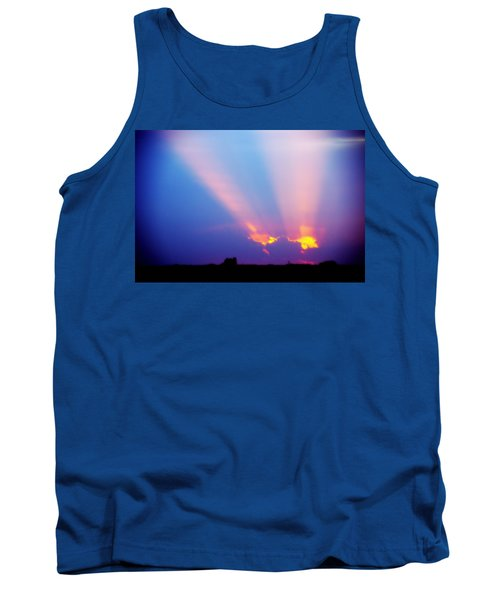 Sun Rays At Sunset Tank Top