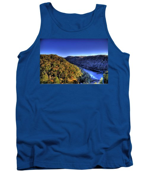 Sun Setting On Fall Hills Tank Top by Jonny D