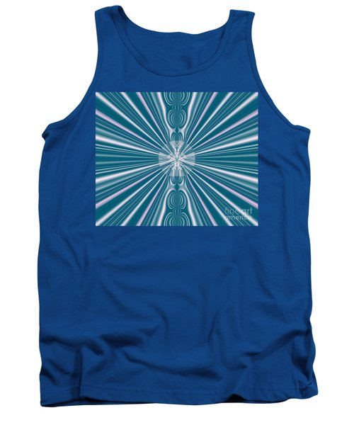 Tank Top featuring the digital art Sunburst In The Rain by Luther Fine Art