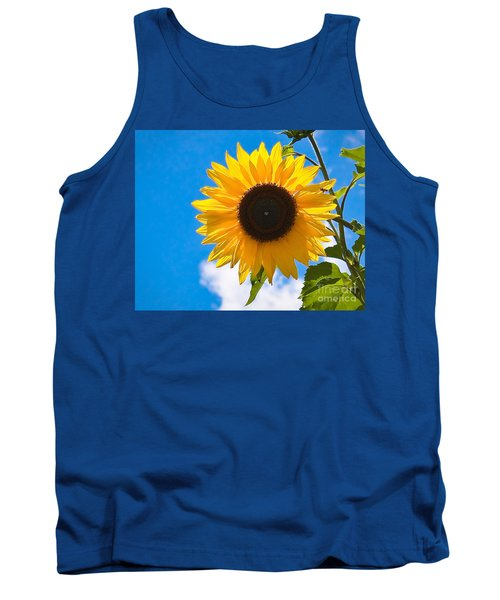 Sunflower And Bee At Work Tank Top