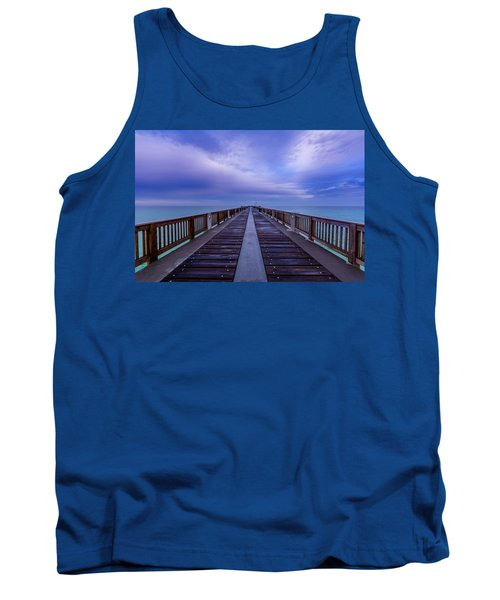 Sunrise At The Panama City Beach Pier Tank Top