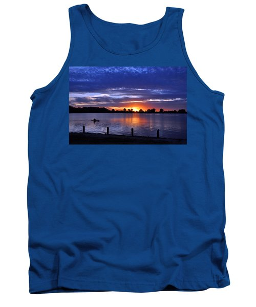 Sunset At Creve Coeur Park Tank Top