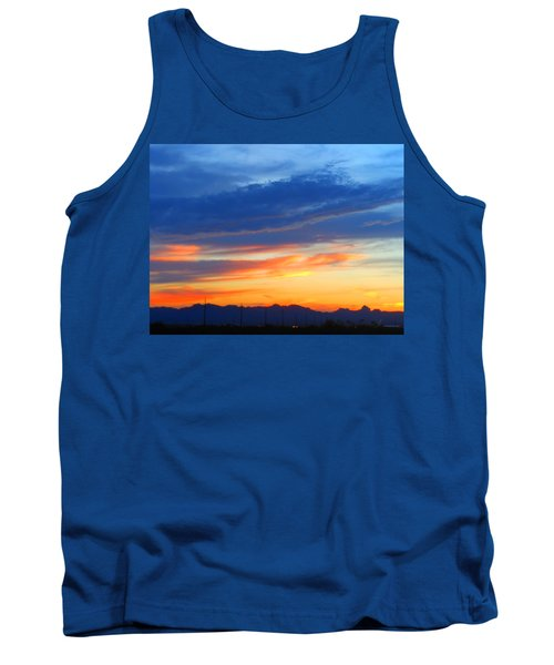 Sunset In The Black Mountains Tank Top