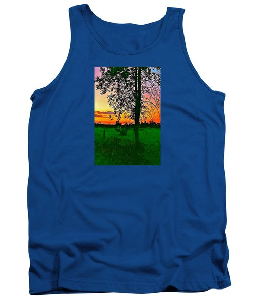 Tank Top featuring the photograph Sunset Over M-33 by Daniel Thompson