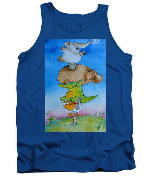 Super Mouse Pen & Ink And Wc On Paper Tank Top by Maylee Christie