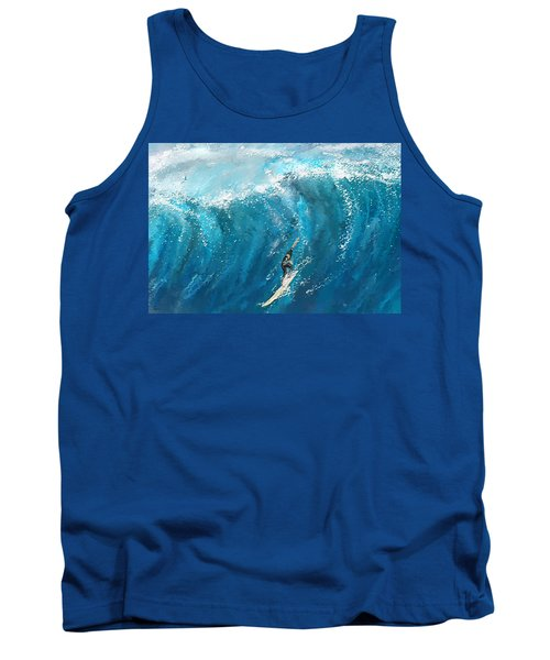 Surf's Up- Surfing Art Tank Top