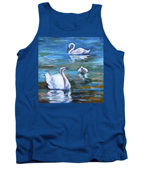 Swans Tank Top by Alexandra Maria Ethlyn Cheshire